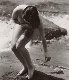 Nude on the beach, 1950s, by Yoshiyuki Iwase