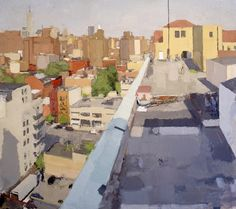 Westbeth Roof,   2001—2002, oil on canvas, 72x 81 in    ​