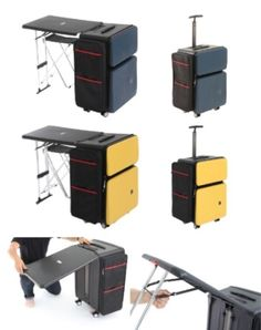 Sadly this site is in a language I do not know. But how cool is this suitcase? I wonder how heavey it is. Cool Kitchen Gadgets, Cool Kitchens, Metal Furniture, Furniture Plans, Woodworking Projects Plans, Teds Woodworking, Multifunctional Furniture, Door Makeover, Types Of Doors