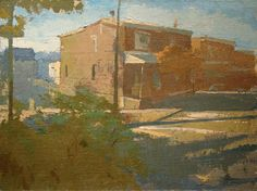 "Peter Van Dyck, corner of ripka and wilde streets 18"" x 24"" oil on linen 2010"