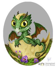 °Baby Dragon by Amisgaudi Dragon Egg, Baby Dragon, Magical Creatures, Fantasy Creatures, Fantasy Kunst, Fantasy Art, Dragon Oriental, Mythical Dragons, Dragon's Lair