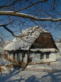 Romania Cottage In The Winter