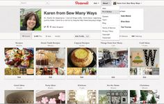 Sew Many Ways...: How To Add A Follow Me Pinterest Button...