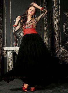 Fashion: Partywear Soft Net Ankle Length Anarkalis