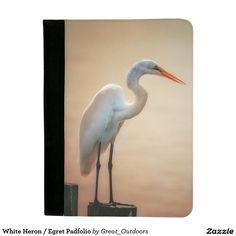 White Heron / Egret Padfolio