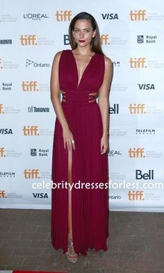 Actress Genesis Rodriguez Cut Out Chiffon Dress during the 2014 Toronto International Film Festival Formal Dress.prom dresses,formal dresses,ball gown,homecoming dresses,party dress,evening dresses,sequin dresses,cocktail dresses,graduation dresses,formal gowns,prom gown,evening gown