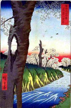 広重「富士三十六景・武蔵小金井」
