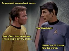 fuckyeahspirk:  Kirk, Spock already knows how this works. ~Spirk/Kock  Made me laugh so hardthanks for this.