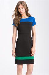 Nordstrom color-blocked dress