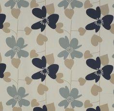 Blue fabric (drapery / curtains) Freya Mineral, Charles Parsons Interiors fabric