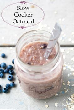 Mason Jar Slow Cooker Oatmeal- such a good idea to have a hot meal waiting for you in the morning!