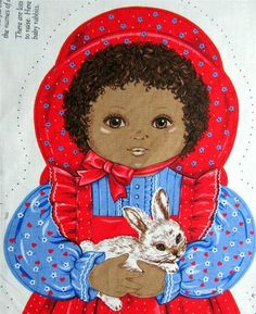Rachel Cotton Tail Sew African American Doll Cranston Fabric Panel New | eBay