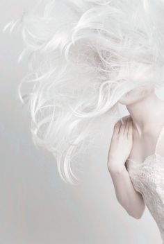 #white #hair #hairstyle