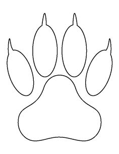 Lion paw print pattern. Use the printable outline for crafts, creating stencils, scrapbooking, and more. Free PDF template to download and print at http://patternuniverse.com/download/lion-paw-print-pattern/