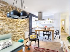 Un #piso urbano, joven y flexible. #reforma #salón #cocina #comedor