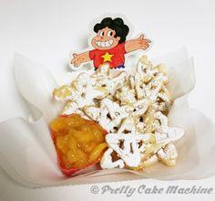 "Recipe: (Steven Universe Dessert Series, Pt. 10) Steven's ""Fry Bits"" Funnel Cake with Peach Jam | Pretty Cake Machine"