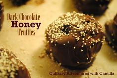 Culinary Adventures with Camilla: Dark Chocolate-Honey Truffles {Valentines}