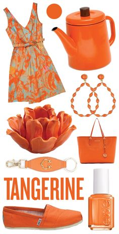 Tangerine is so summer, but also gives a bit of a color to the every day black and gray from winter.