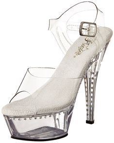Pleaser Women's Kiss-208LS/C/M Platform Sandal * You can get more details by clicking on the image.