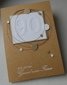 Einladungskarten in Serie mit selbstgebauter Prägeform - Mein Haus, mein Garten, mein Hobby.