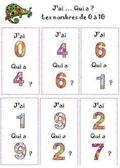 Math games 512636370069381892 - J'ai… Qui a 1 Plus Source by burlinsylvie Vocabulary Games, Math Games, Math Activities, French Numbers, Daily Math, Montessori Math, School Games, Math Numbers, 1st Grade Math