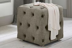This soft stool is a great addition to your bedroom!