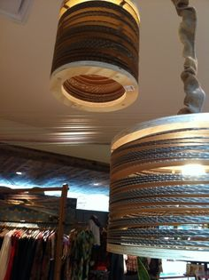 #Upcycle cardboard as lampshades.