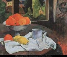 "Vintage lithograph print of the painting ""Still Life"" (c. by Paul Gauguin. Comes from a rare art folio published by Albert Skira in Geneva, Switzerland, in the Printed on one side. Paul Gauguin, Monet, Still Life Fruit, Impressionist Artists, Art Story, Painting Still Life, Art Moderne, Henri Matisse, Tahiti"