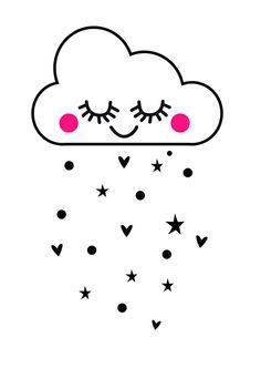 Muursticker babykamer wolkje