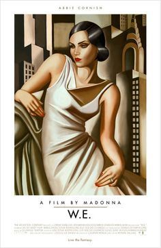 movie poster for Wallis Simpson biopic WE. designed by akiko stehrenberger. inspired by lempicka. http://www.akikomatic.com/catalog/we.html