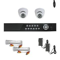 "Complete 4 Channel CCTV Real Time DVR (2T HD) Surveillance Video System Package with (2) x 700 TV Lines 1/3"" Exview HAD CCD II 3.6mm lens, 24pcs IR LEDs, 65.6 ft IR Distance Indoor Security Cameras by Gw. $599.00. Package Includes:      GW2544SV-N DVR with 2T HDD;     Remote Control and mouse;     2 x GW727W - 1/3"" Exview HAD CCD II with Effio-E DSP Devices Indoor Camera;     2 x GW60CAW: 60 feet pre-made cable BNC;     2 x GW12V0.5A: 12V 0.5A Power Supply for Secu..."