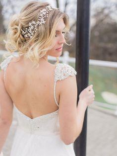 Bridal Hair Vine Bridal Halo Headpiece Bridal Pearl