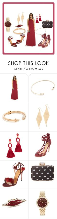 """""""Shine out"""" by paige-brrian ❤ liked on Polyvore featuring Joanna August, ZoÃ« Chicco, Vita Fede, Jules Smith, Oscar de la Renta, Schutz, Aquazzura, Inge Christopher, Holly Dyment and Michael Kors"""