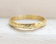 Vintage Wedding Ring 18K Yellow Gold by RosenrosettAntiques, $199.00