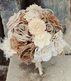 burlap bouquet   photo by melissa copeland