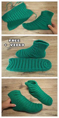 Knit One-Piece Stretchy Baby Booties Free Knitting Pattern + Video - Knitting Pa. Knit One-Piece Stretchy Baby Booties Free Knitting Pattern + Video – Knitting Pattern Knit Slippers Free Pattern, Baby Booties Knitting Pattern, Crochet Slipper Pattern, Knit Baby Booties, Crochet Boots, Crochet Baby Shoes, Knitted Slippers, Baby Knitting Patterns, Knitting Socks