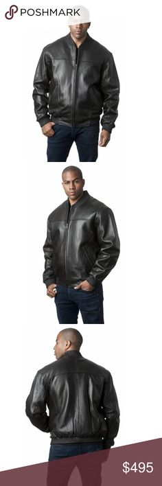 "Black Premium Lamb Leather Bomber Baseball Jacket Black Premium Lamb Leather Bomber Baseball Jacket  Black Cabretta Lamb 27"" Zip Jacket with Mandarin Collar with Elastic Ribbed Detail on Collar, Cuffs, and Hem  Zip Out Acrylic Faux Fur Liner  Manufacturer: Mason & Cooper  We are a four generation fur, leather and outerwear store located in Milwaukee, WI. Please visit our website for verification and credentials. Mason & Cooper Jackets & Coats Bomber & Varsity"