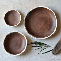 Ebb Tide pebble bowls ~ rust