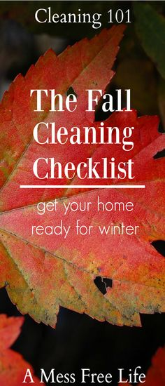 Wondering what needs to be done to get your home ready for winter? Our fall cleaning checklist has everything you need to do in your home - inside and out!   Deep Cleaning   Household Tasks   Organizing   Declutter