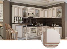 Кухня с патиной, угловой вариант. По доступной цене и высокому качеству.