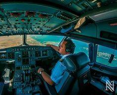 Cum se vede lumea din carlinga unui avion - galerie foto