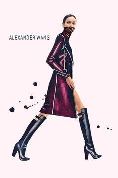 Alexander Wang. Photography by Andrew Ivaskiv. Illustration by Julia Slavinska.