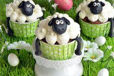 Cupcakes de Pâques à la gloire de Shaun le mouton ! Parfait pour un dessert de Pâques au chocolat facile à réaliser et qui plaira aux enfants à coup sûr !
