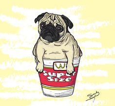 Pug McDonald's super size.