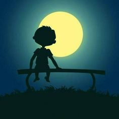 alone boy, bench , moon Alone Boy Wallpaper, Wings Wallpaper, Hipster Wallpaper, Boys Wallpaper, Happy Alone, Good Night Friends, Boy Illustration, Couples Images, Aesthetic Gif