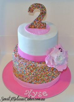 and sprinkle cake 3rd Birthday Cakes, 2nd Birthday Parties, Vanellope, Mad Hatter Party, Troll Party, Summer Birthday, Cupcake Cakes, Cupcakes, Cakes And More