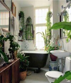 Inspiration déco – des plantes vertes dans la salle de bain – Cocon de…