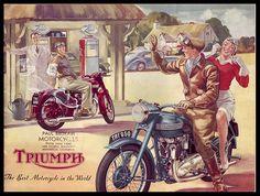 Vintage Triumph bike ad