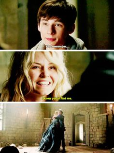 This scene was just like when Emma returned to Storybrooke and found David and he remembered her!