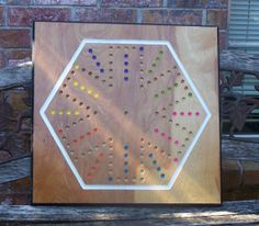 Tock game.  Massive aggravation board game w marbles and dice and cards